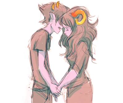 day 23, matesprits. sollux and aradia are so adorable!