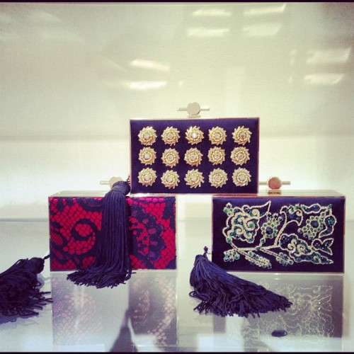 Beautiful box clutches by Jason Wu. (Taken with Instagram)
