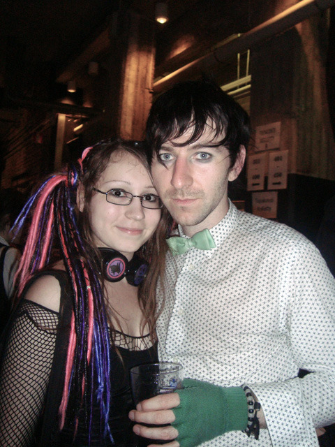 Me with O.E. after the The Birthday Massacre gig back in 2009.