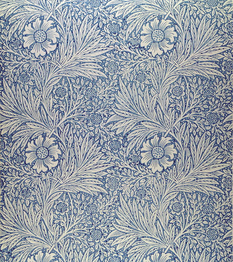 """Marigold"" wallpaper design, William Morris, 1875"