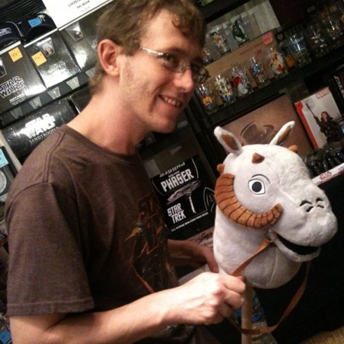 It's a Tauntaun head on a stick! #dragoncon #starwars (Taken with Instagram)