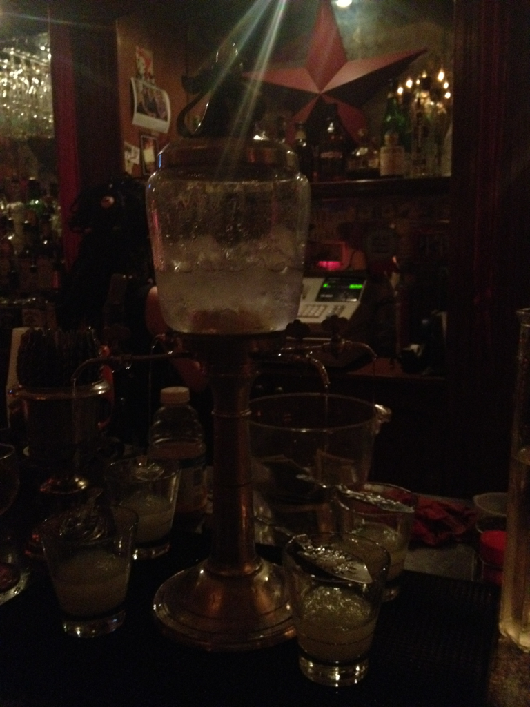 gonola:  Absinthe at Pravda on Decatur Street!  I got so fucking drunk here and then walked around Andrew Jackson square at 2am with my ghost tour guide who said you could hear screams. Didn't hear shit.