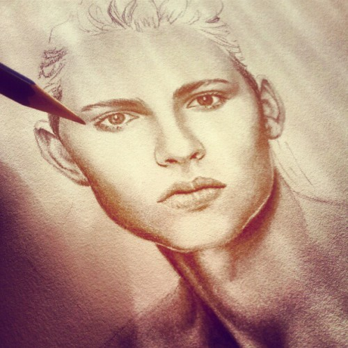 andrejpejicpage:  Andrej Pejic drawing From Nabey instagram