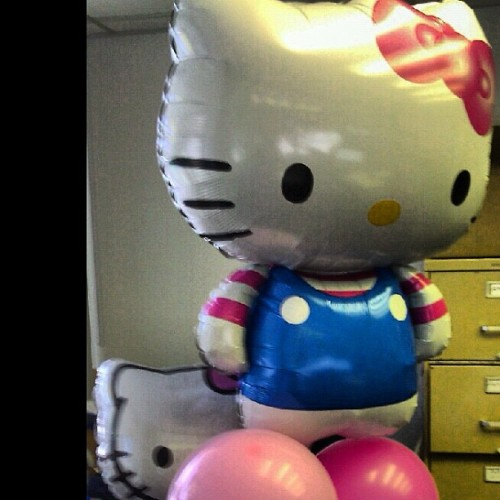 Now I really feel like a six year old! #hellokitty #hk #balloons #pink #itsmybirthday (Taken with Instagram)