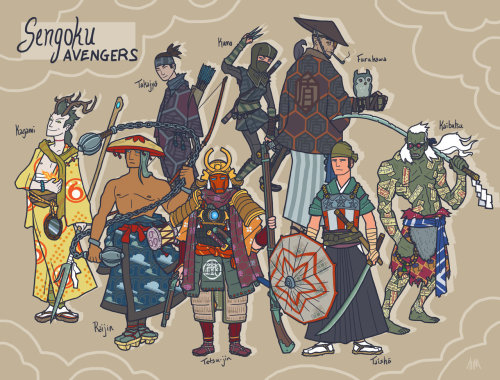 THE AVENGERS Reimagined as Sengoku Samurai Heroes