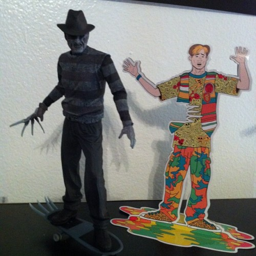 """Told you comic books was bad for ya!"" @neca_toys #nightmareonelmstreet #TheDreamChild #Freddy  (Taken with Instagram)"
