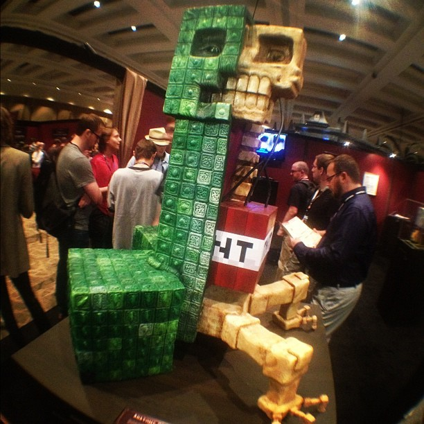 Holy #Minecraft TNT! @GregAronowitz made THIS! (that rhymes I think) #pax (Taken with Instagram)