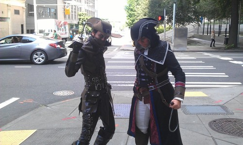 via @assassinscreed at PAX Prime - cosplayers unknown  Nightstalker Huntsman I am at least 90% positive that these are the right credits, haha.  -AFK