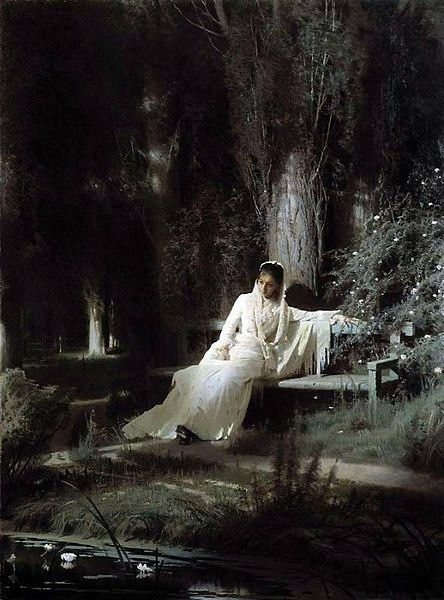 saturnsdaughter:  Ivan Kramskoy, Moonlight night, 1880