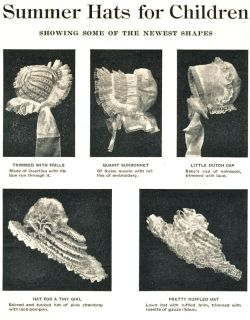 Summer hats for children, 1902