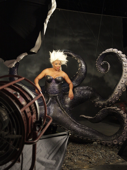 badactresswithbadhabits:  Queen Latifah as Ursula from The Little Mermaid for O magazine. This is the most fabulous thing ever.
