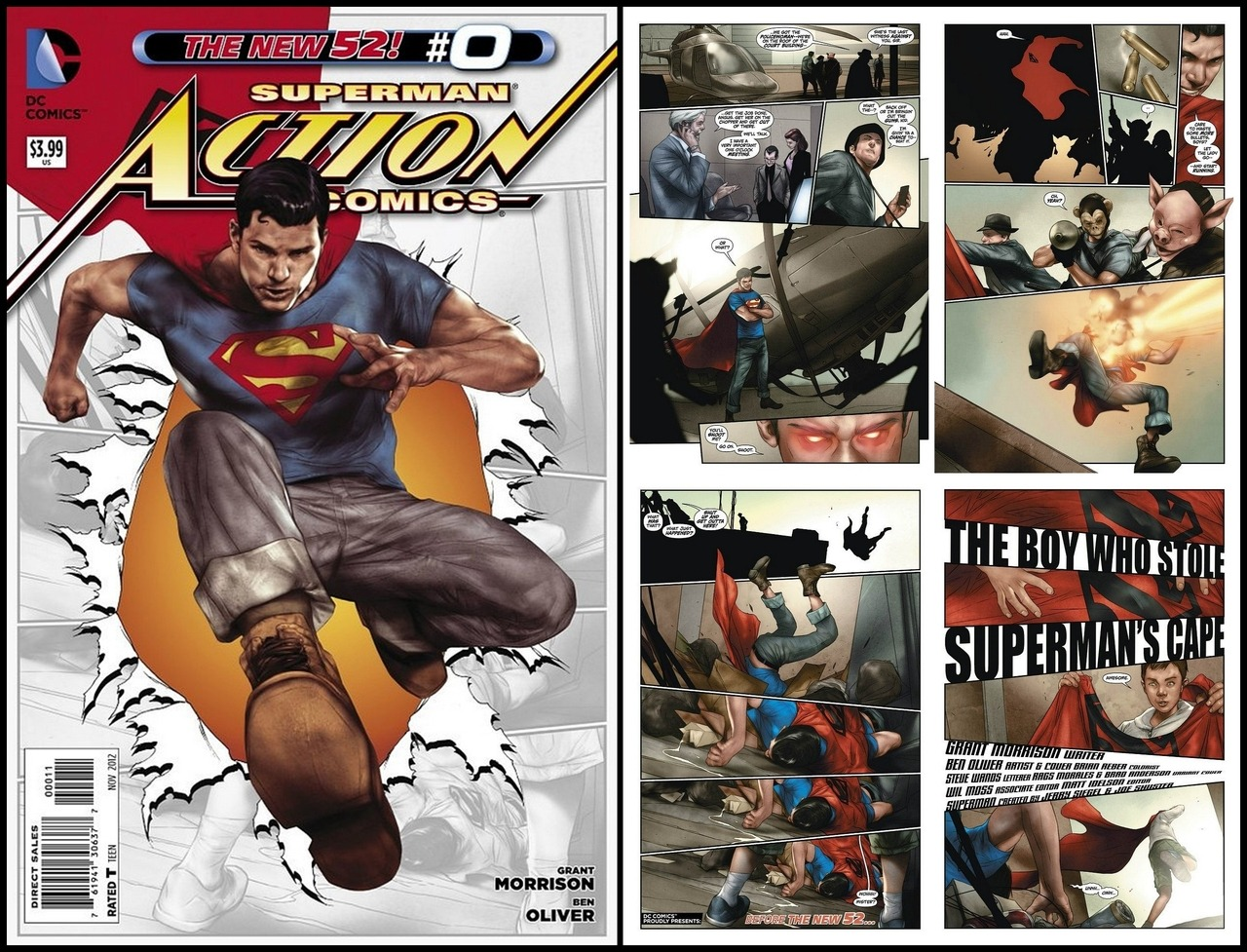 Preview Action Comics #0 Morrison returns to Clark Kent's early days in Metropolis