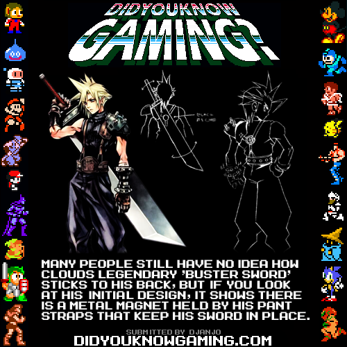 didyouknowgaming:  Final Fantasy VII.