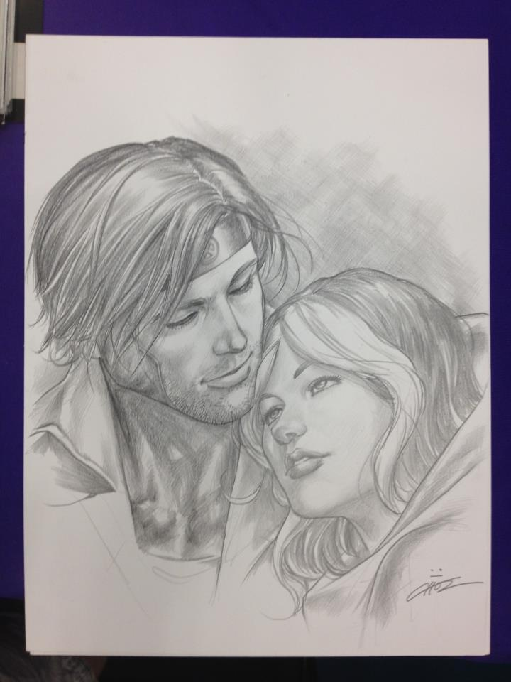 Just whoa—Gambit & Rogue by Mike Choi