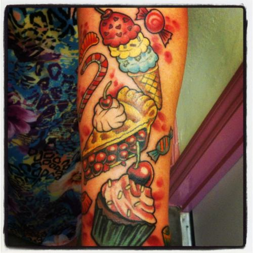 fuckyeahtattoos:  Done by Curt @ http://www.facebook.com/laughingbuddhastudio