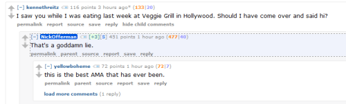 Nick Offerman's AMA is AMAzing.