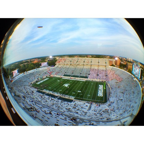 It's a beautiful night for football! #iphone #olloclip #fisheye #prohdr #spartanstadium #football #msu  (Taken with Instagram at Spartan Stadium)