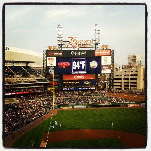 It's so hot in the D! #Detroit #Tigers  (Taken with Instagram at Comerica Park)