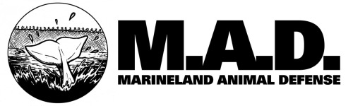 marinelandanimaldefense:   The Marineland Animal Defense T-Shirt Pre-Sale Starts Now!  Many people have been asking when we are going to have merchandise ready for M.A.D. and we are happy to report that our pre-sale starts right this minute! T-shirt printing is a complex world and we wanted to make sure first that we had a system that best reflected our ethics - as a result of this our shirts will be printed on justshirts.ca shirts - fair trade shirts made by a Women's Collective in El Salvador and they will be printed by us! Yes, you heard that right, M.A.D. - along with all other ADL working groups - have purchased our own t-shirt press! Now that we have our own press - we need orders to get us to work! You can pre-order by paypaling to our M.A.D. account marineladanimaldefense@gmail.com with your address. Shirts (Unisex or Women's Cut) are $25 with all proceeds beyond cost going back into the campaign. If you would like to order a Hoodie - the cost is $40. If we get enough hoodie orders we will print - if not we will refund your order OR drop it down to a t shirt order and refund you the difference. We are looking at having shirts ready for our Sept 15th demonstration - so that is our timeline! The print will be of our logo (above) black ink on white shirts. Thank you to everyone who supports the campaign and everyone who pre-orders!  *Also, special thank you to Matt Gauck who made this logo for us almost two years ago!  THE ADL HAS A T-SHIRT PRESS NOW - LOOK THE FUCK OUT.