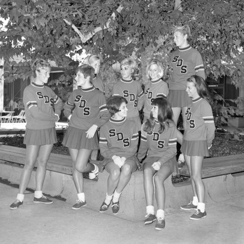 ludicrous-display:  SDSU cheerleaders from 1968