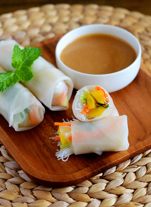 Mango Summer Rolls with recipe (link)