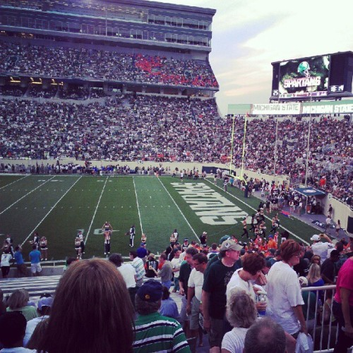 Good seats! Go green!!!! (Taken with Instagram at Spartan Stadium)