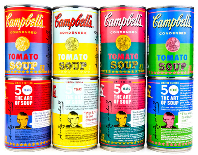 Product Alert: Warhol Soup Cans (Real Ones) and Makeup Coming Soon