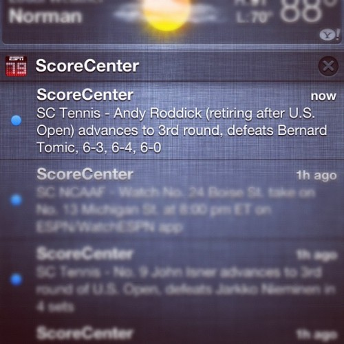 Bye bye Andy! #usopen #tennis #andyroddick (Taken with Instagram)