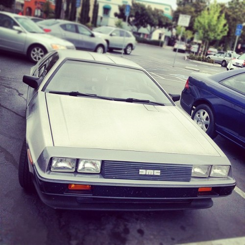 Another shot of the #delorean (Taken with Instagram at Downtown Sunnyvale)