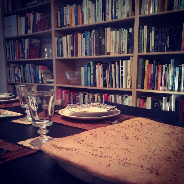 Bread & Books #love #books #bread #movienight #dinner  (Taken with Instagram at Carpinteria, CA)