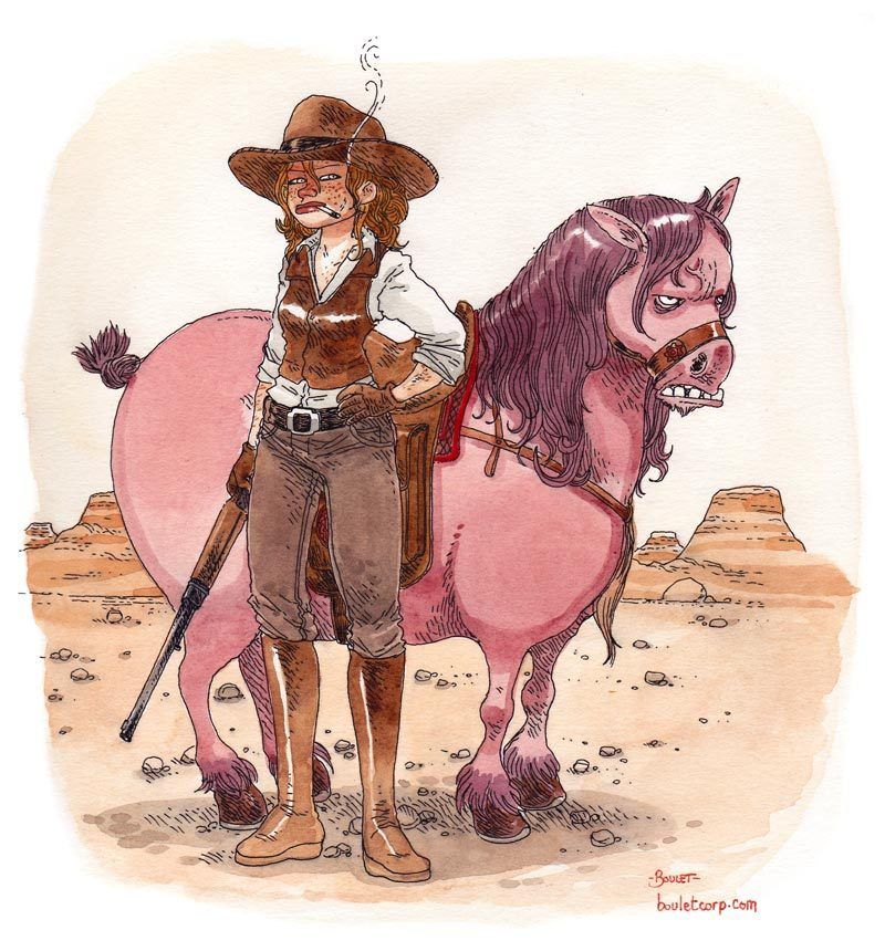 "bouletcorp:  ""CowGirl"" - Impro  This is the best pony. *_*"