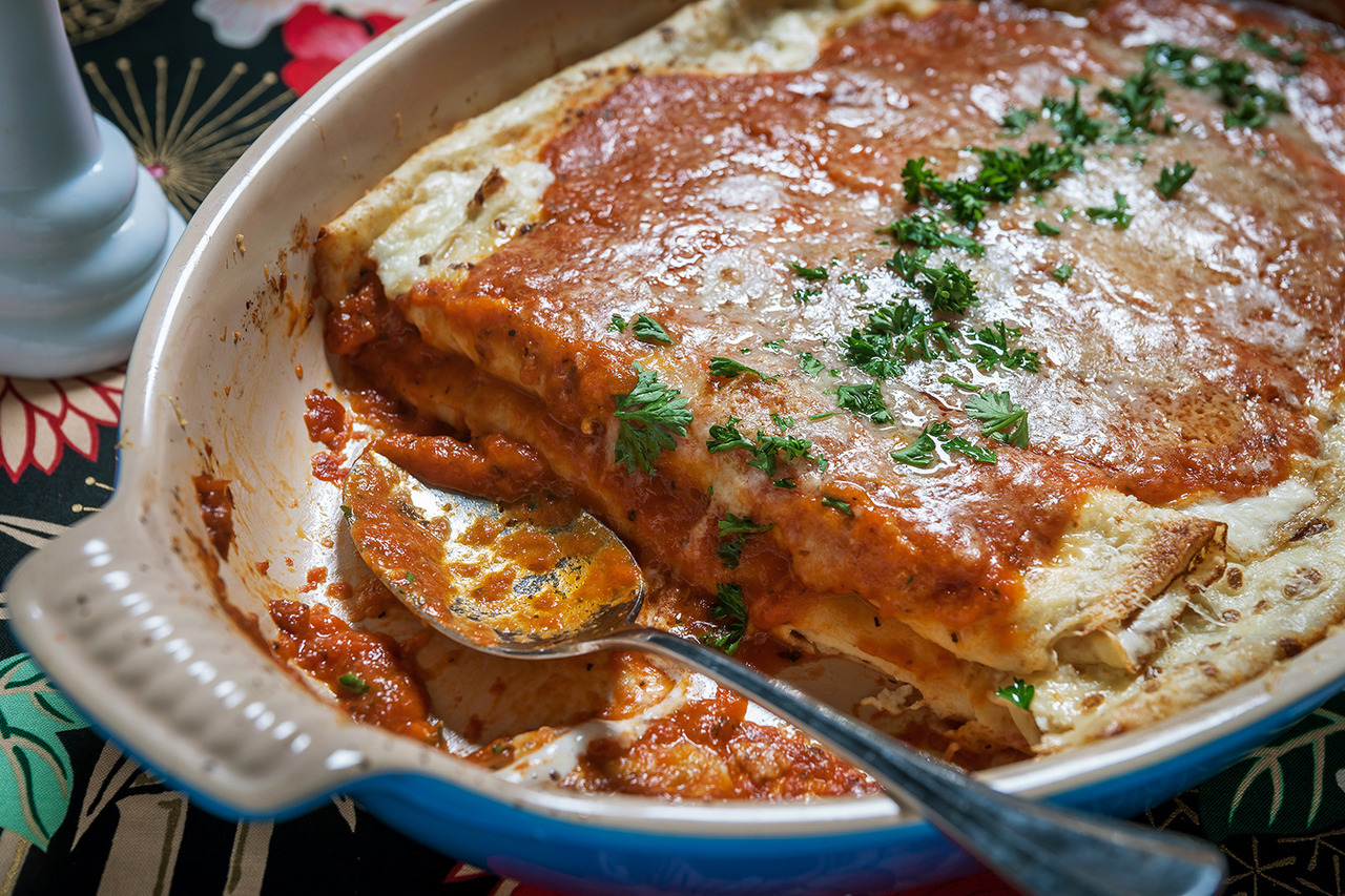 Cheese Manicotti with Tomato Sauce - Gourmet: August 1977