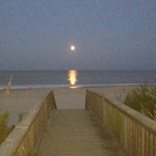 Blue moon! (Taken with Instagram at Bach By The Sea)