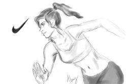 avatarskorraang:  Korra for Nike by MEEEEE avatarskorraang :)  Am I the only one that thinks Korra would be a great fitness model?
