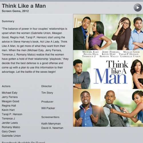 #NP Think Like A Man #kevinhart #funnyashell #Thinklikeaman #livingthelife #realniggawassup (Taken with Instagram)