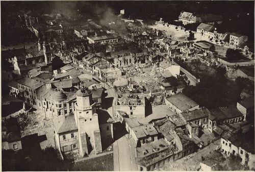 "demons:   Warsaw after being bombed repeatedly by the Luftwaffe, September 1939  73 years ago on the morning of 1 September 1939, a German army of 1.25 million men, including six armored divisions and eight motorized divisions with armored units, crossed the border into Poland behind a heavy aerial bombardment. History knows this invasion by the name of German operation title of Case White or in Poland as the 1939 Defensive War.Hitler had ranted about Danzig and the Polish Corridor, but the northern wing of his attack headed for Warsaw, while the southern wing swept through Krakow and Lodz.Although the Polish Army would have outnumbered the attacking German army—the Wehrmacht—once it had all been mustered, instead the German army were met by 17 ill-equipped infantry divisions. The Poles had just one armored brigade-660 tanks in all, versus Germany 2,100. In some cases Polish Calvary units were utilized but never against Panzer Brigades, instead they were used as messengers between the light infantry—though the myth (propagated by both the Germans and Russians) of the ""last calvary charge in history"" still persists. In the air, the Polish Air Force had just 842 obsolete aircraft; the German Luftwaffe could put 4700 modern aircraft in the air, trained in the same tactics that destroyed Guernica, Spain.In just seven days, the Panzers reached Warsaw.To make matters worse, on 17 September the Red Army moved across Poland's eastern border to occupy the 76000 square miles of land, with its population of 12.8 million, promised under the Molotov-Ribbentrop Pact. The act was condemned internationally and the Soviet Union was expelled by the useless League of Nations but the damage was done. By the end of September the invasion of Poland was complete and Case White was a success. The Polish government, left with no choice and with its allies—France and Britain—acting too late, fled into Romania.In the first month of the Second World War alone some 60,000 Poles were dead, 200,000 injured and 700,000 taken prisoner."