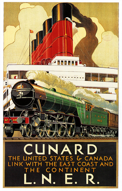 elektrotacker:  Cunard & the Flying Scotsman by paul.malon on Flickr.