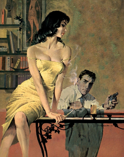 vintagecoolillustrated:  From the paperback - When She Was Bad (1960) art by Robert McGinnis  A P.I. novel by William Ard