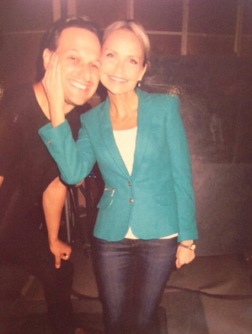 Josh and Kristin On the set of The Good Wife, Season 4