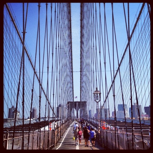 Yea I'm out that Brooklyn. #brooklyn #bridge #nyc  (Taken with Instagram at Brooklyn Bridge)