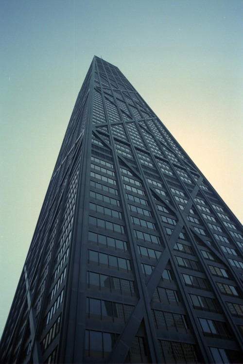 mtpdcent submitted:  John Hancock Center (2010) Chicago, Illinois  This is a great photo of one of my favorites.  To see the John Hancock in person is to appreciate the simple brilliance of its design; the gently sloping sides create a forced perspective, making it appear much taller than it is.