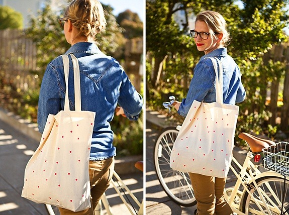 This 10 minute project produces the cutest canvas tote. (via Pinterest)