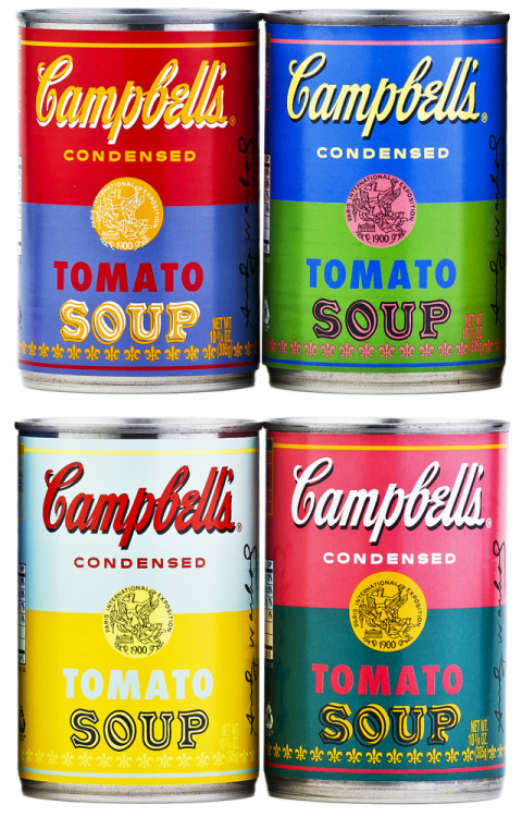 Campbell's releases a limited edition collection of tomato soup cans in an effort to commemorate the 50th anniversary of Andy Warhol's 32 Campbell's Soup Cans piece. More info HERE