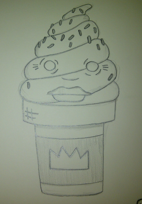 "Daily Ice Cream Drawing………………""THE QUEEN"""