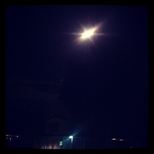 Blue Moon or UFO? (Taken with Instagram at Tarzania)