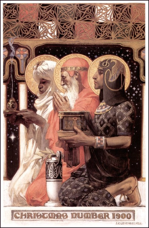 vekkes-inspiration:  Three Wise Men (1900) by J.C. Leyendecker