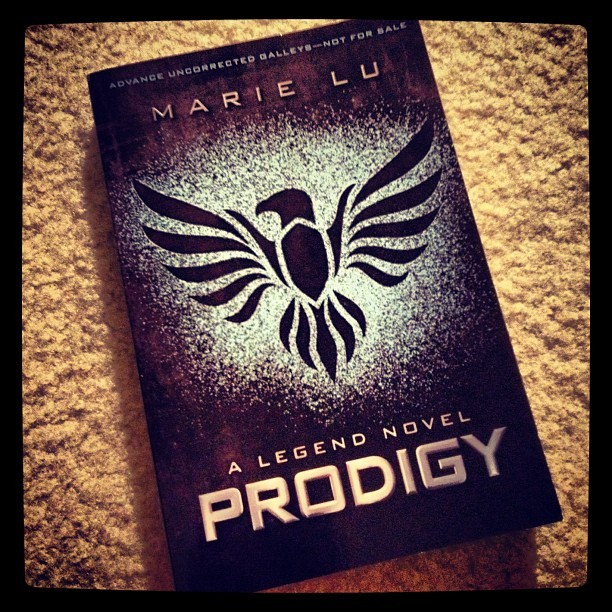 It pays to have friends in high places, #Prodigy by #MarieLu doesn't come out til Jan 2013!  (Taken with Instagram)