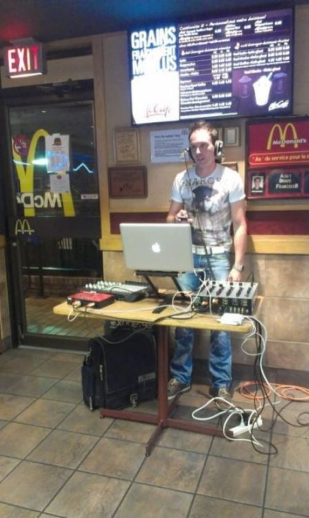 I always party on the weekends at McDonald's. Do the Big Mac.
