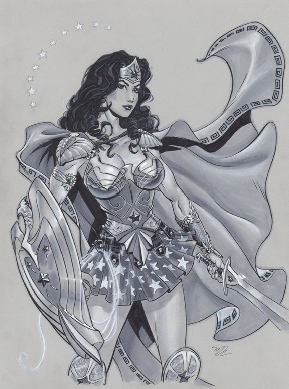 thehappysorceress:  Wonder Woman in Armor by Michael Dooney