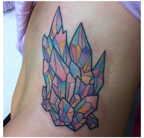 fuckyeahtattoos:  Crystals on my ribs by the awesome Lauren Winzer at Hunter and Fox Tattoo in Alexandria, NSW Australia.